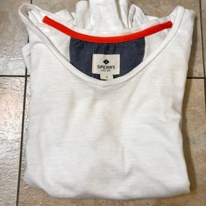 Sperry Top-Sider White Tunic Long Sleeve Top